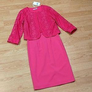 Gina Bacconi Pink 2-pc Semi Formal Dress, sz 10